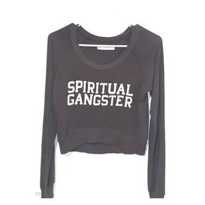SOFT SPIRITUAL GANGSTER CROP SWEATER FOR LIFE❤️S